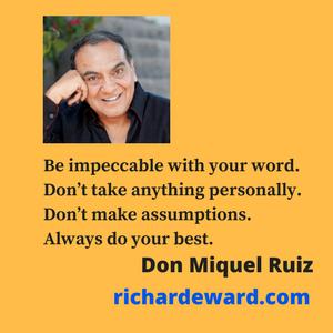 Don Miquel Ruiz is a Toltec Nugual, a shaman, in Mexico.