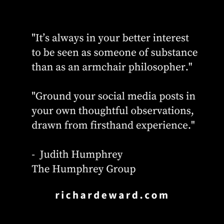 It's always in your better interest. Judith Humphrey
